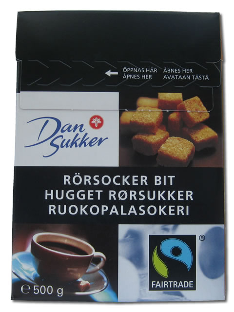Dan Sukker Raw Sugar Cubes, 1 lb. 1 oz.