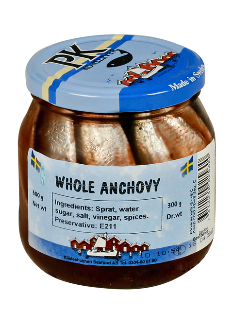PK Falkeskig Whole Anchovies, 21.16 oz.
