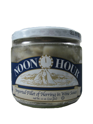 Noon Hour Herring in Wine Sauce, 12 oz.