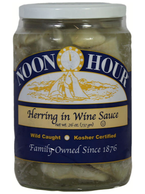 Noon Hour Herring in Wine Sauce, 26 oz.