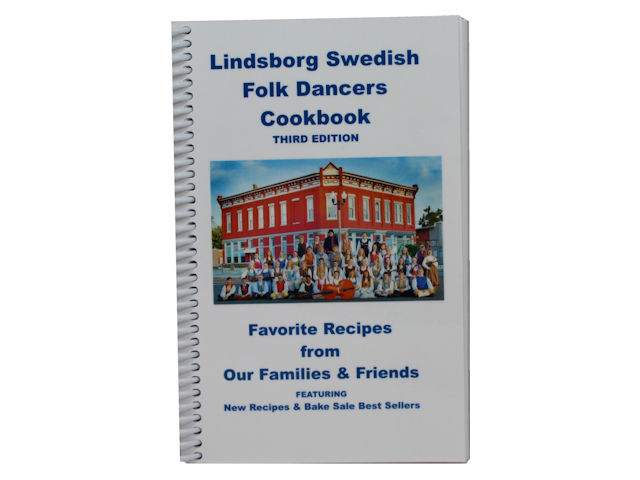 Lindsborg Swedish Folkdancers Cookbook - Third Edition, 386 pages