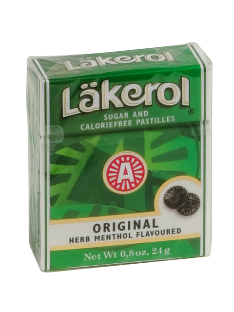 Lakerol Original Herb Menthol Green Box, 0.8 oz.