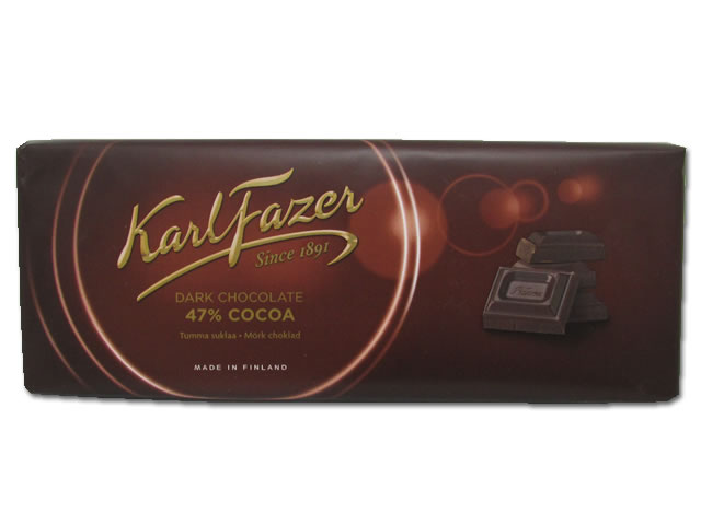 Fazer Dark Chocolate Bar, 7.05 oz.