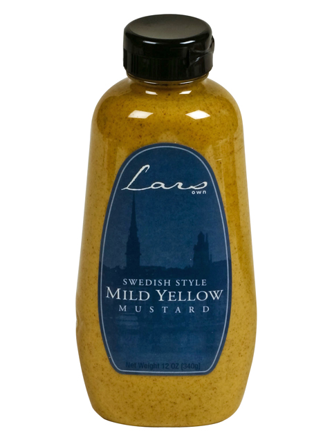 Lars Own Swedish Style Mustard - Mild Yellow, 12 oz.